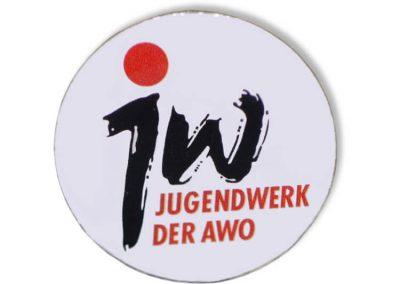 Pin bedruckt - Jugendwerk der AWO
